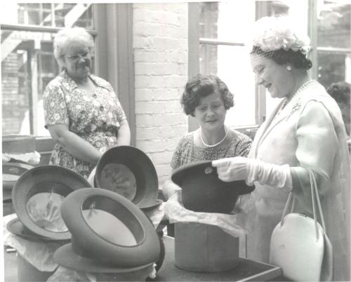 Visit of HRH Queen Elizabeth the Queen Mother to Christy & Co. 1963